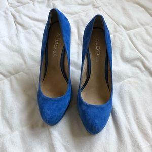 ALDO Blue Suede High Heels